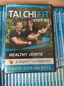 Tai Chi DVD for over 60 people man and woman on cover doing Tai Chi