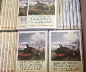 DVD's in box cover of dvd are Isle of Wight steam train