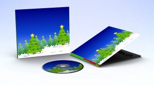 Christmas tree sky snow on a digipak and CD