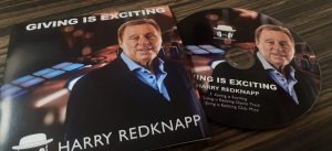 card wallet and cd picture of Harry Redknapp football pundit and ex manager